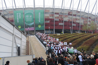 Green groups walk out on Warsaw conference. Photo Source: Oxfam International via Flickr