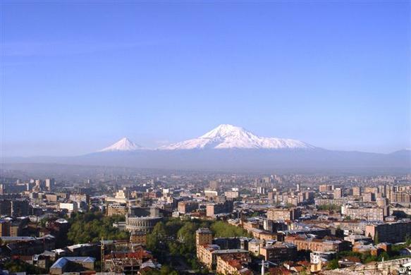 http://commons.wikimedia.org/wiki/File:Yerevan_Mount_Ararat.jpg