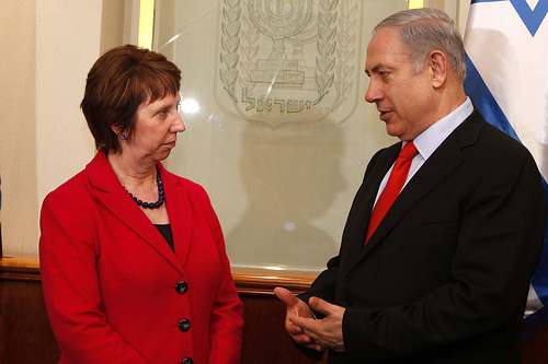 Benjamin Netanyahu and Catherine Ashton. (© European Union)
