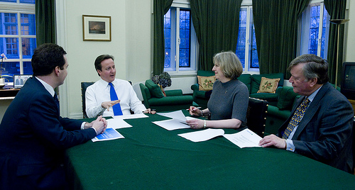 David Cameron discussing important things