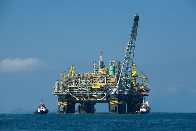 Brazilian-owned Petrobas' Oil Platform P-51 will produce about 180 thousand barrels of oil when fully operational. http://en.wikipedia.org/wiki/File:Oil_platform_P-51_(Brazil).jpg