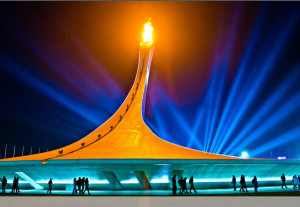 Everything on a large scale: The Sochi Olympic flame Photo courtesy: www.flickr.com
