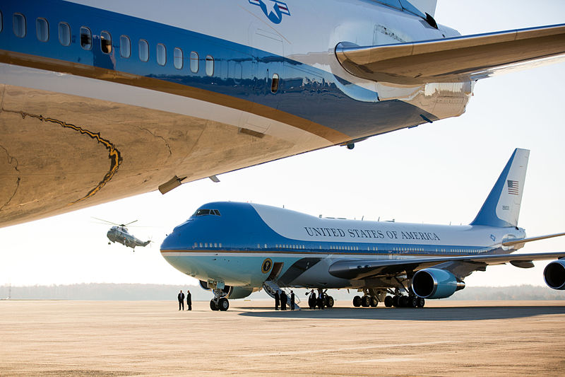 http://commons.wikimedia.org/wiki/File:Barack_Obama_embarks_on_Asia_trip.jpg
