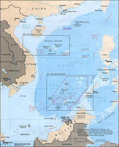 Map of the South China Sea Photo Source: Asia Maps –Perry Castaneda Map Collection via Wikimedia Creative Commons