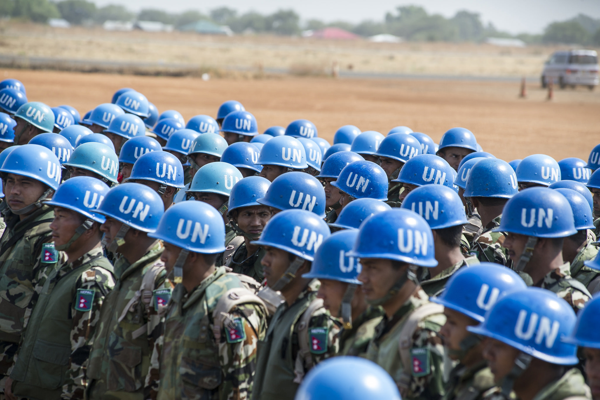 Contingent of Nepalese Peacekeepers arrive in Juba, South Sudan. Photo source: United Nations Photo via Flickr Creative Commons