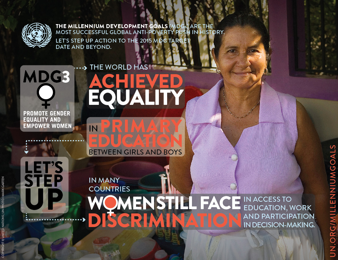 Gender and MDG's Infographic via United Nations Website