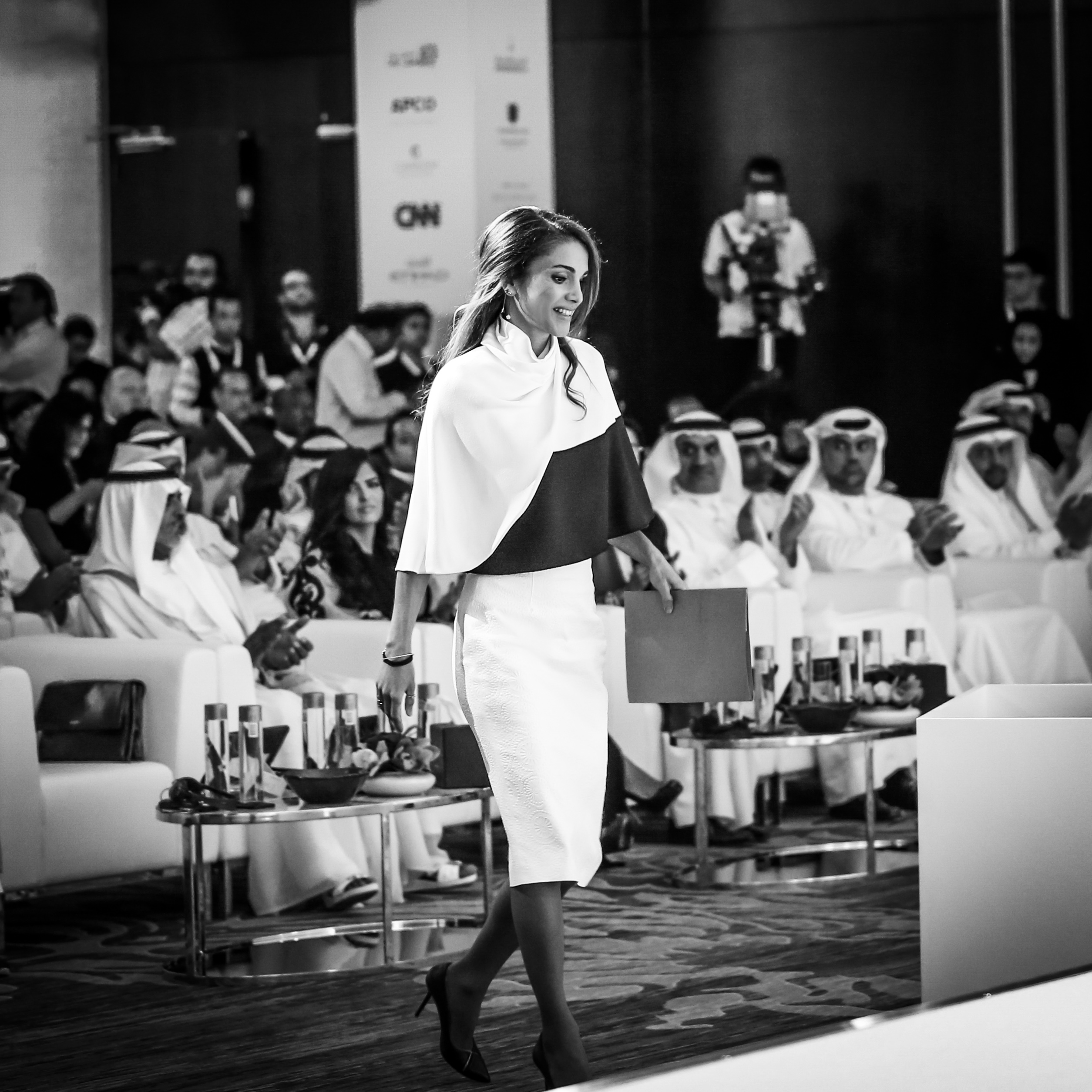 "Queen Rania of Jordan denounced ISIS as an ""irreligious minority"" at the Abu Dhabi Media Summit (Flickr Creative Commons)"
