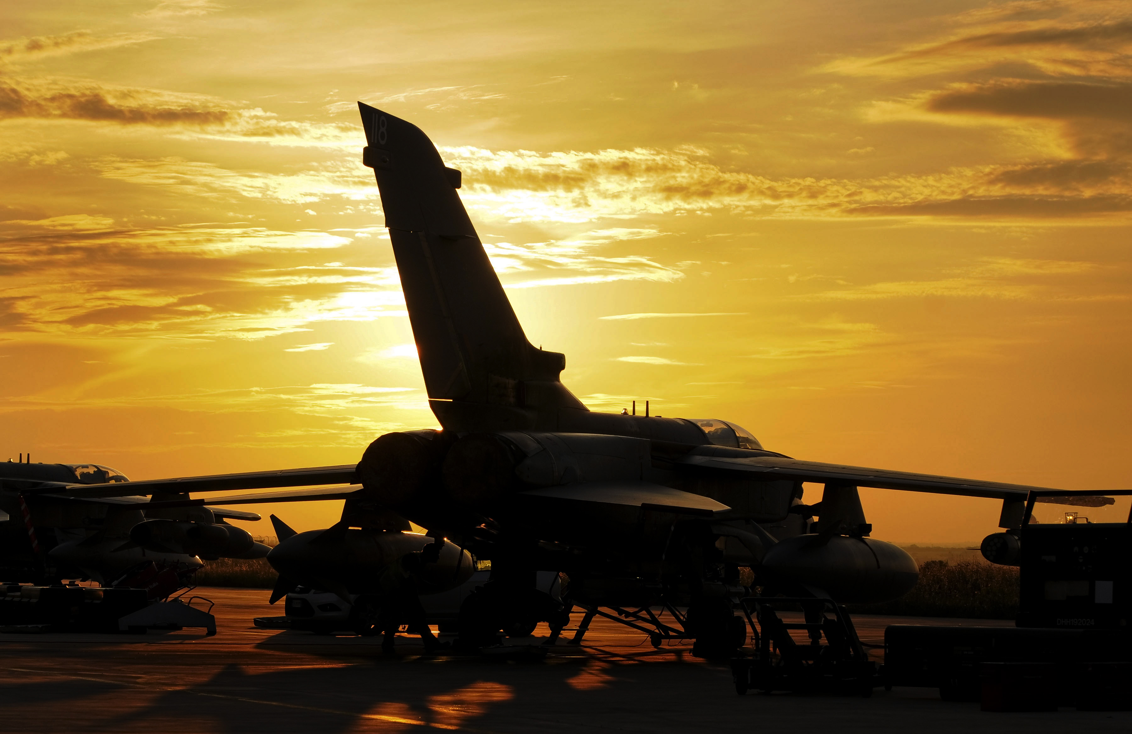 A Royal Air Force Tornado GR4 aircraft at a base in Southern Italy during operations in Libya in 2011 – SAC Sally Raimondo via Defence Imagery