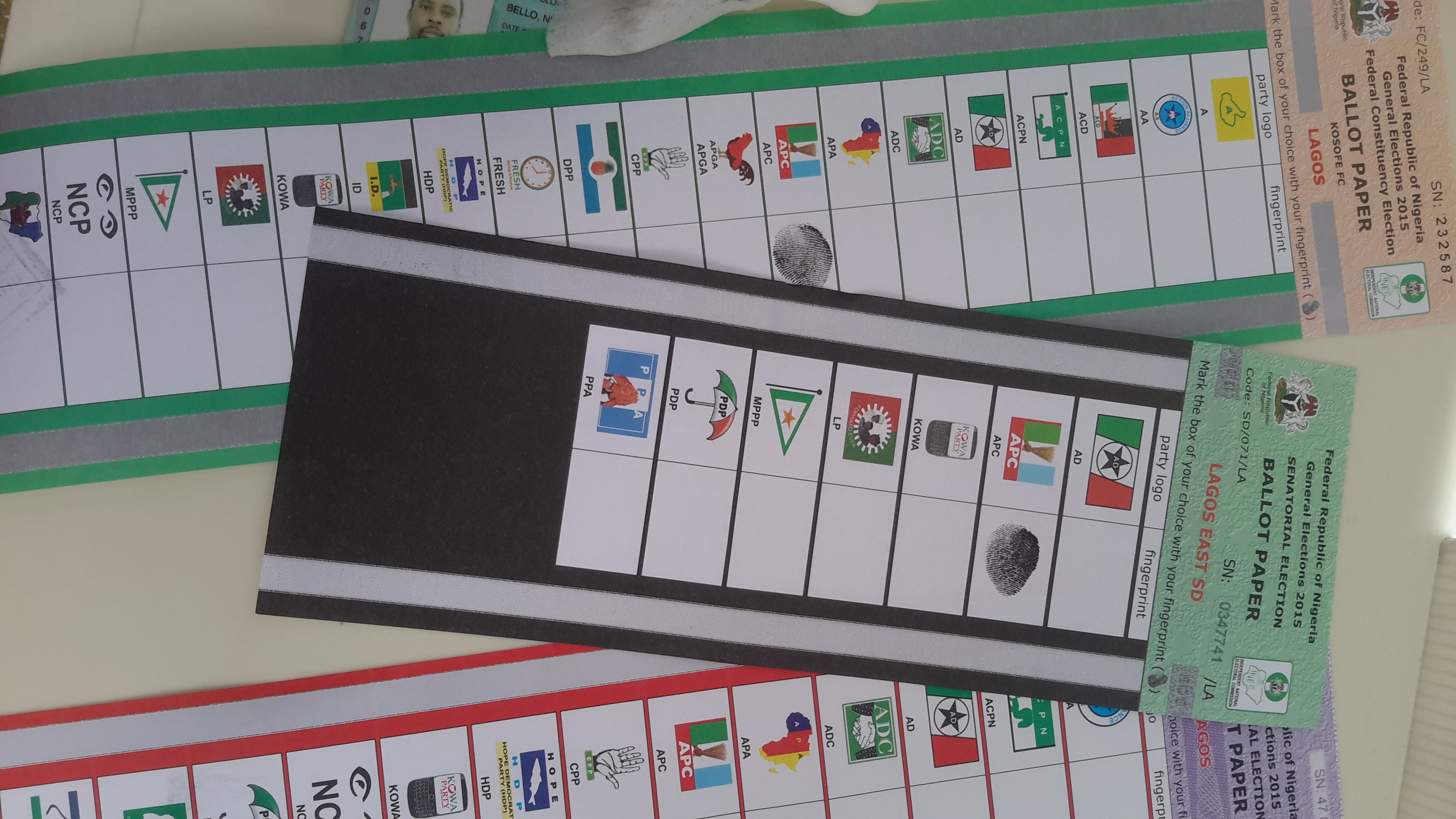 Ballot Papers - Source: Original picture from Nejeed Bello
