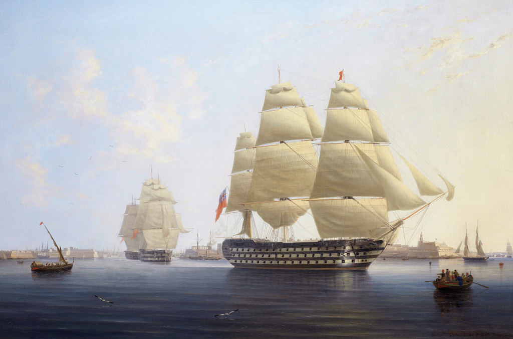 HMS Queen leaving Malta