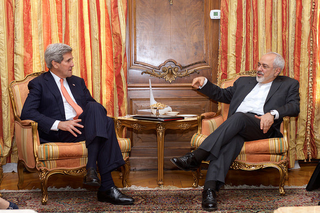 Secretary Kerry meets with Iranian Foreign Minister US Government work via Flickr