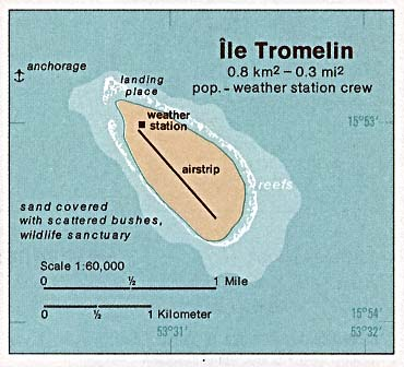 Map of Tromelin Island in the Indian Ocean via Wikimedia Commons