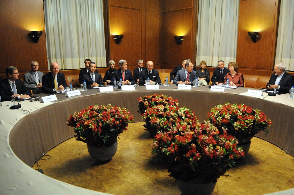 Foreign Ministers of P5+1, EU, and Iran at the United Nations Headquarters in Geneva, Switzerland, after the group concluded negotiations about Iran's nuclear capabilities on November 24, 2013 – US Department of State via Flickr