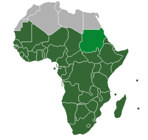 Sub-Saharan Africa (UN definition) - Jcherlet via Wikimedia Commons