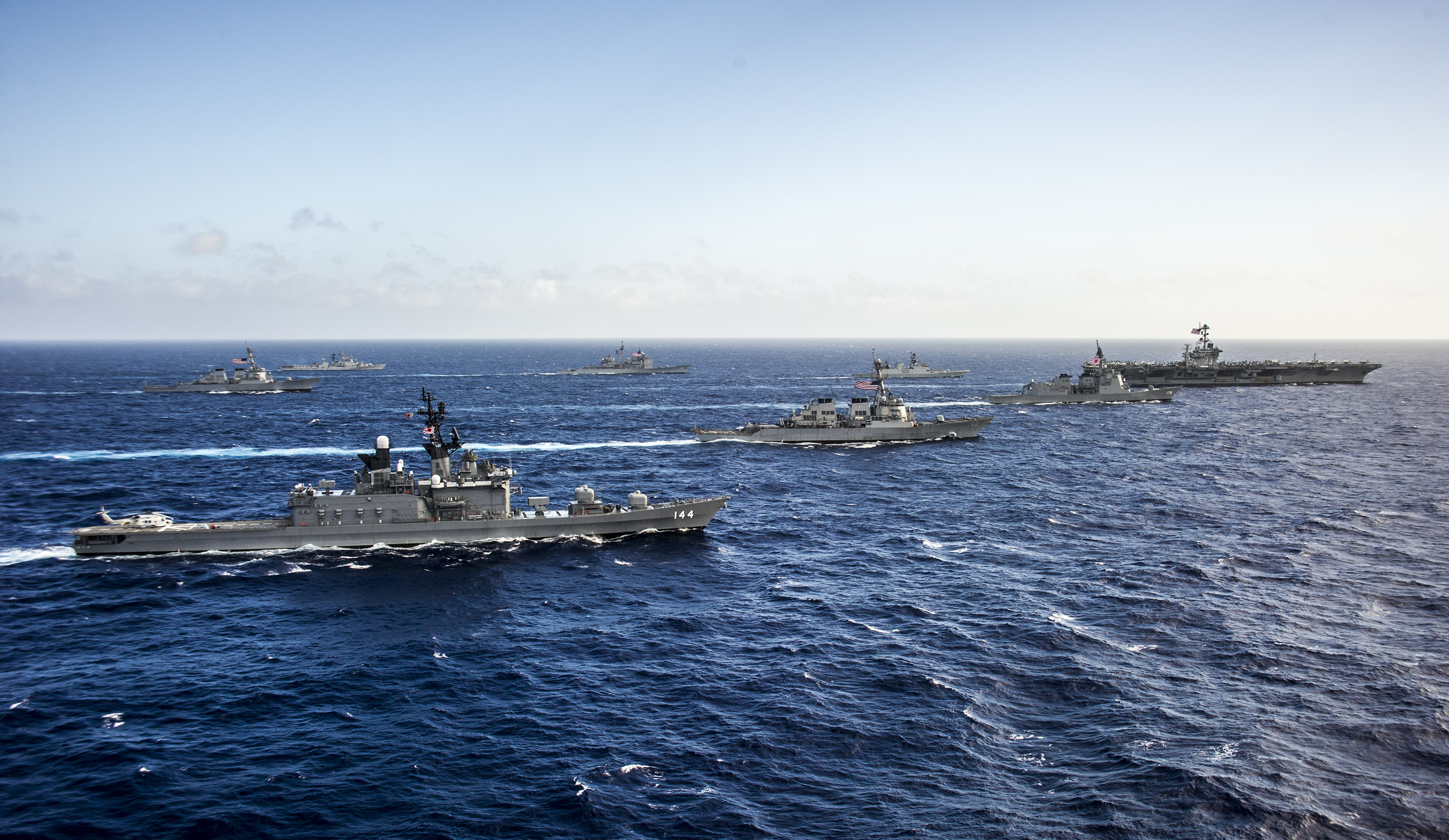 U.S. Pacific Fleet in waters East of Okinawa (July 30, 2014) via Flickr Commons