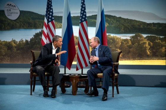 Barack Obama and Vladmir Putin