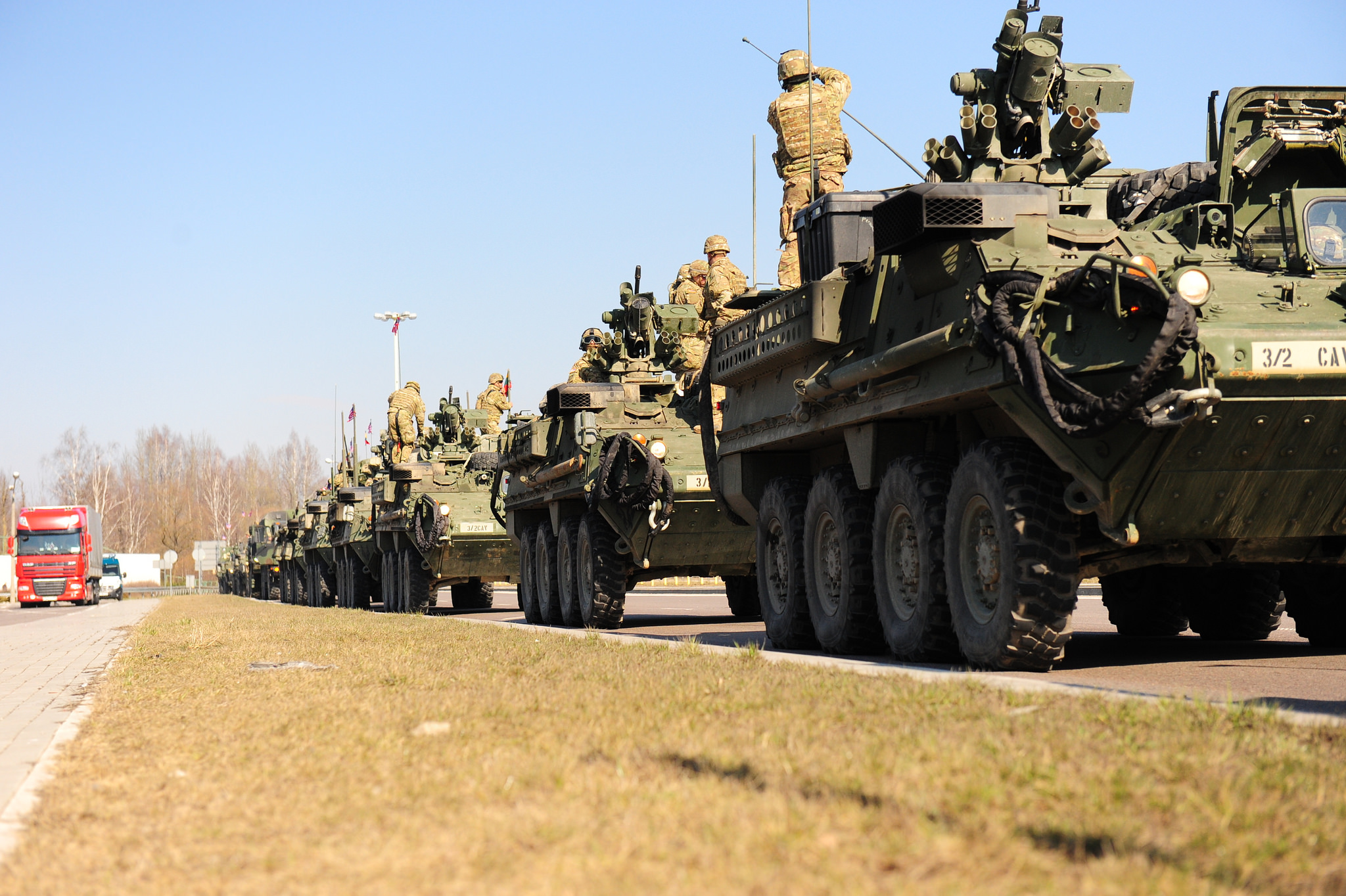 US Army armoured vehicles on Day 4 of NATO's 'Operation Dragoon Ride' – US Army Europe via Flickr