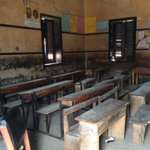 Classroom sitting 80 students in Ogun State, Nigeria