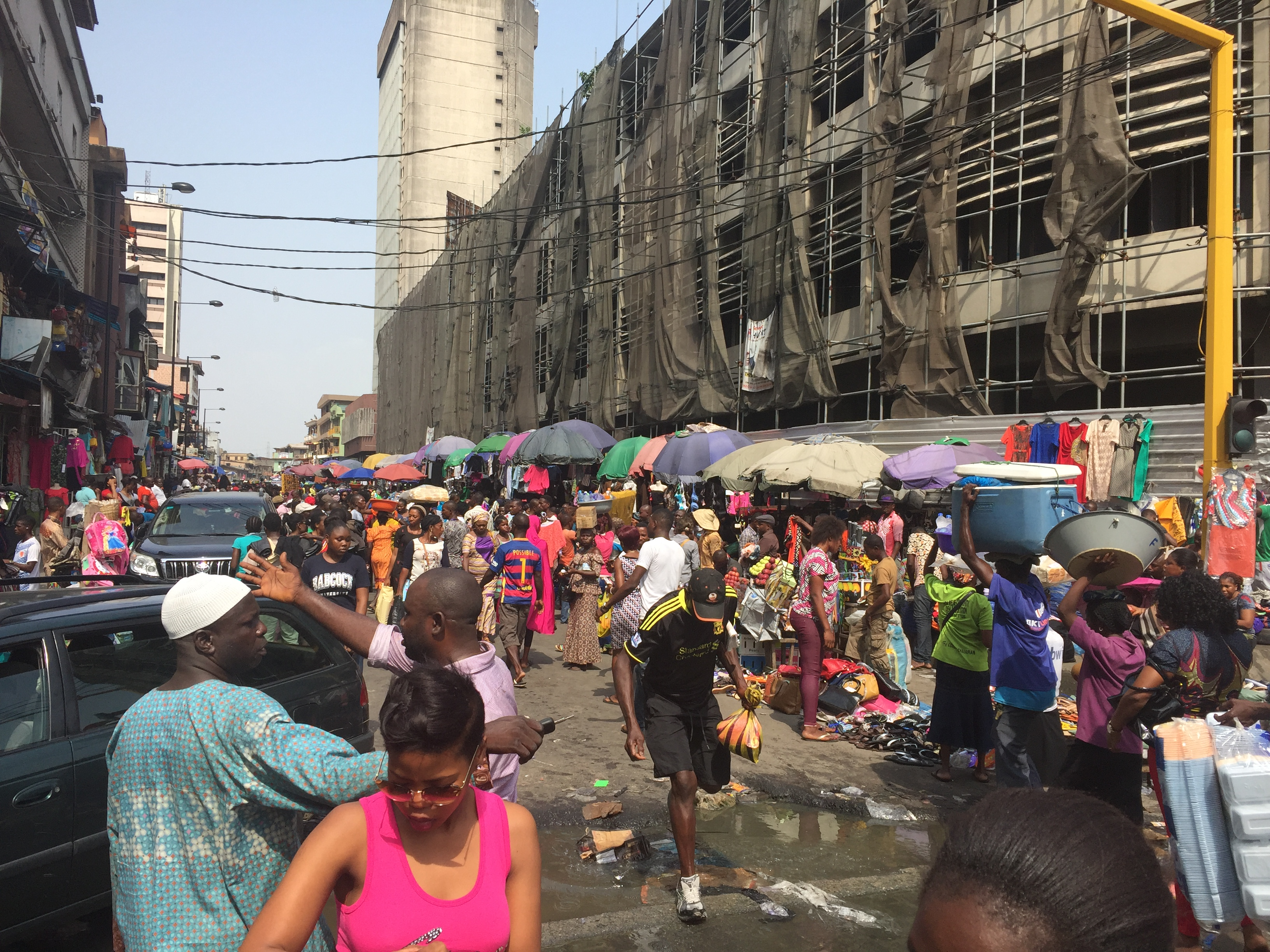 Balogun market; the biggest market in west Africa!