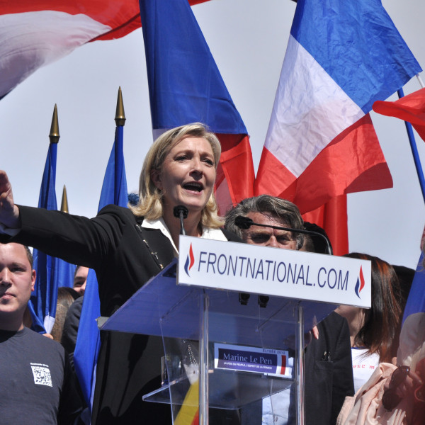Marine Le Pen at a Front National rally. Photo: Blandine Le Cain.